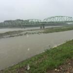 8月23日の延期決定したときの北上川の様子